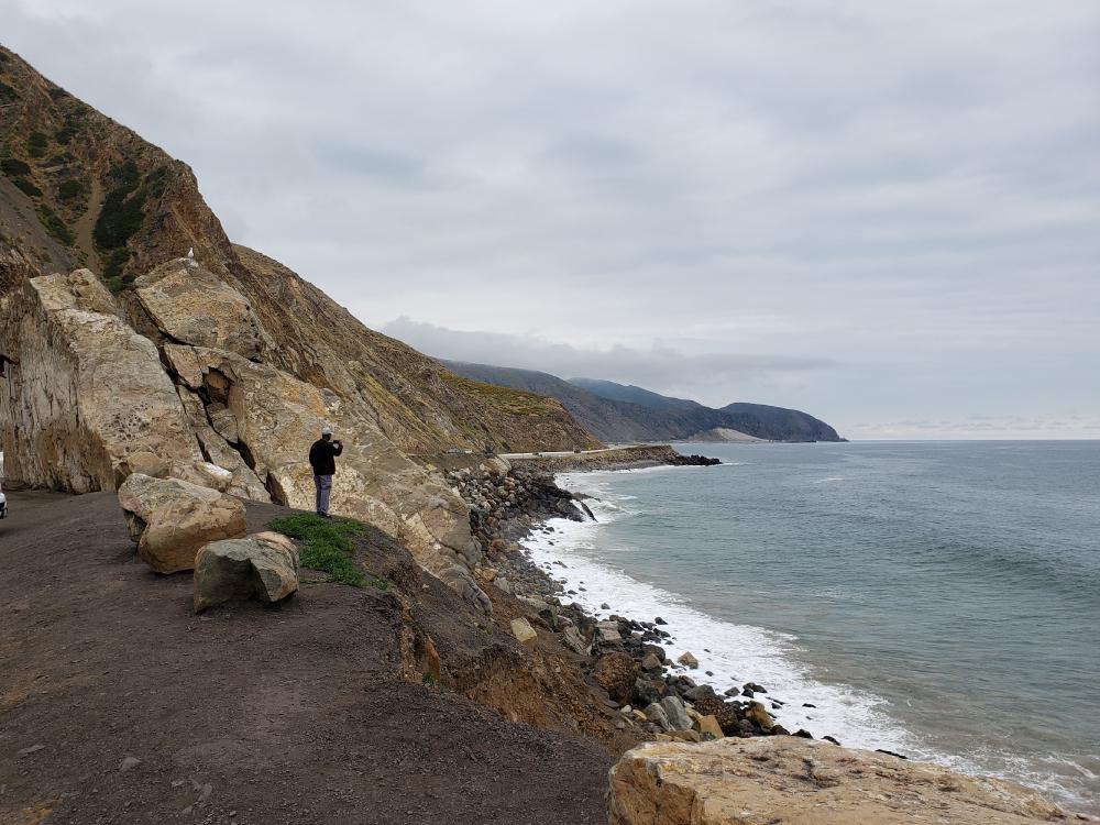 Point Muguの岩場
