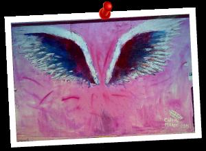 メルローズ ピンクの羽